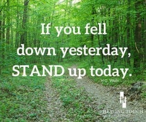 We've all been there...knocked down, tired, wondering if we can get back up. When we don't think we can go anymore, we give one last push. | Healing Touch Chiropractic
