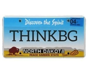 THINKBG: That was the license plate that we saw driving home. Who wouldn't read that and notice their vibration higher? And what does it mean to think big? | Healing Touch Chiropractic