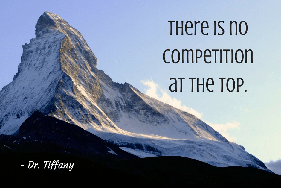 There is no competition at the top.